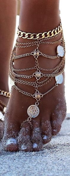 Summer jewelry love the anklet
