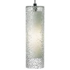 "Rock Candy Cylinder Pendant by LBL Lighting - Height 15.8"", Diameter 4.8"" - $412 - 60Watt - avail in satin nickel -"