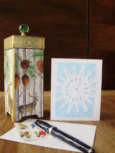 Large Hand-cut Paper Snowflake Blank Greeting Card