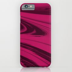Maroon Waves - Pattern iPhone & iPod Case