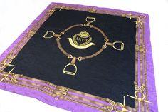 "Vintage RALPH LAUREN LXVII Polo Gold Crown Logo Purple Silk Scarf 37"" Square | Clothing, Shoes & Accessories, Women's Accessories, Scarves & Wraps | eBay!"