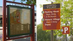 Directory and pedestrian directional signage, Claremont Village, CA  | Hunt Design