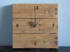 Rustic Wall Clock  Handmade  Branded  Made by TheOldPlankWoodworks