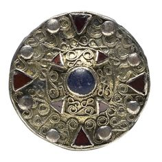 Disk Brooch with Central Boss; 7th c CE; Frankish