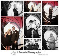 James bond theme wall backdrop at birthday party - sydney party photography