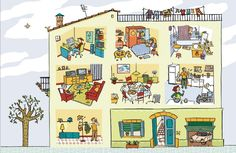 Praatplaat huis / La Casa