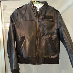 Lucca Couture Faux Leather Moto Jacket Good condition with exception of the tears on inner lining depicted in pic 4. Doesn't affect the outer aesthetics of the coat. Doesn't affect you when wearing.  No other flaws to note. Lucca Couture Jackets & Coats