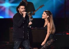 The Weeknd and Ariana Grande at the AMAs november 2014 L.A., California