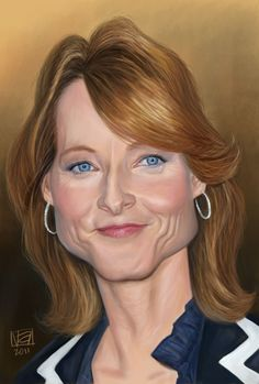 Celebrity Caricature / Jodie Foster (by Vincenzo) Jodie Foster, Cartoon Faces, Funny Faces, Cartoon Art, Funny Caricatures, Celebrity Caricatures, Famous Cartoons, Funny Cartoons, Portrait Au Crayon