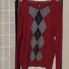 """J Ferrar Argyle Sweater Burgundy J Ferrar Argyle Sweater.                                ✅Condition✅ ✅Price Firm!✅ ❌NO TRADES❌ ❌NO HOLDS❌ USE THE OFFER BUTTON‼️ I will not respond to people who comment """"trade"""" or """"lowest"""", AND I DO NOT NEGOTIATE IN THE COMMENTS‼️ Jacqueline Ferrar Tops Sweatshirts & Hoodies"""