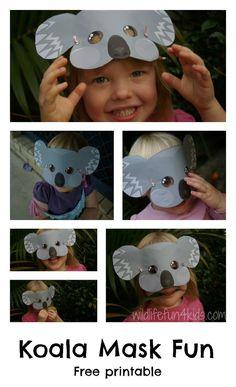 Free Koala Mask Printable! What fun!