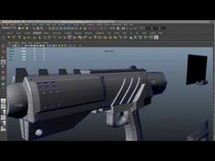 Maya - gun modeling theory and detail - YouTube