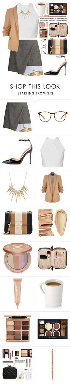 """161. I had the time of my life fighting dragons with you"" by misspyromaniac ❤ liked on Polyvore featuring Toga, Gianvito Rossi, Alexis Bittar, River Island, MICHAEL Michael Kors, tarte, Trish McEvoy, Stila, Lord & Berry and asymmetricskirts"