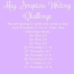 May Scripture Writing Challenge Write out daily scriptures and post on Instagram with the #worshipfullivingscripturewriting Daily Bible Reading, Free Printables Bible Study @WorshipfulLivin