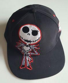 Disney Parks Night before Christmas Jack Skellington  Hat Cap Black Red Youth  #DisneyParks #EverydayHalloweenDisneyParks