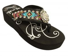 Cross fire tooled flip flops cowgirl jewelry cowgirl for Lil flip jewelry collection