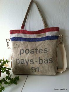 vintage canvas postbag bag shoulder bag by boonestaakjes on Etsy, $103,00