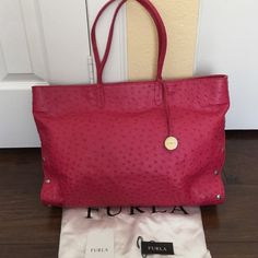 Authentic Furla pink tote used about three times,mint condition,❌NO TRADE‼️ Furla Bags Totes