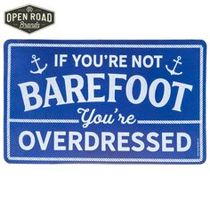 Welcome your guests into your home with a fun floor accent. Barefoot Door Mat is a rubber mat has a blue background with a cute nautical design. Place it in front of your door for a place to wipe your feet and let your guests know to keep it casual! Nautical Design, Nautical Home, Mat Online, Rubber Mat, Lobbies, Home Collections, Hobby Lobby, Home Accents, Barefoot