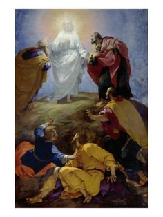 """""""A voice from the cloud said, This is my beloved Son, with whom I am well pleased; I am manifested through his preaching. I am glorified through his humility. Pictures Of Jesus Christ, Bible Pictures, Religious Images, Religious Art, Religious People, Religious Paintings, The Transfiguration, Christian Artwork, Life Of Christ"""