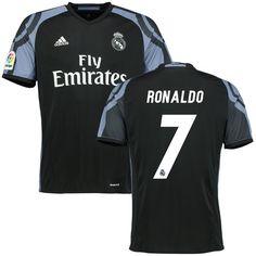 Cristiano Ronaldo Real Madrid adidas 2016/17 Third Replica Jersey - Black