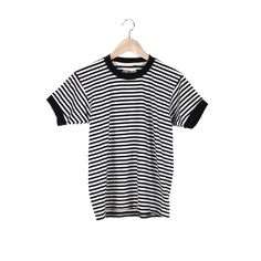 Stripe Ringer Tee | The perfect retro black and white striped ringer tee! #CampCollection www.shopcamp.com