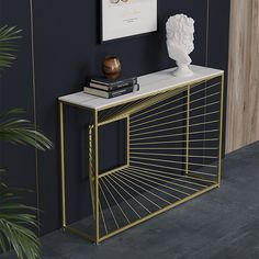 Welded Furniture, Industrial Design Furniture, Office Furniture Design, Iron Furniture, Home Decor Furniture, Console Table Styling, Narrow Console Table, Modern Console Tables, Metal Tables