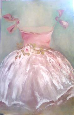 TRINI loves this pink ballet dress painting. her profound deafness did not prevent her from falling in love with the ballet. Dress Painting, Ballerina Painting, Ballerina Pink, Everything Pink, Pretty Pastel, Rose Quartz, Pink Blue, Pink Color, Pink White