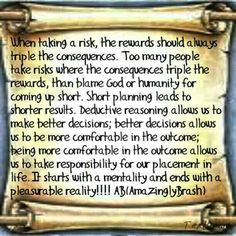 Risk with rewards!!!!
