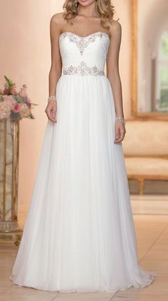 sheath wedding dress in Capri Chiffon