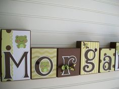My Mom's Business ~ RessieLillian ~ Baby Name Blocks . Nursery Name Blocks . Nursery Decor . Baby Letter Blocks . Wood Name Blocks . Bedding. $11.00, via Etsy.