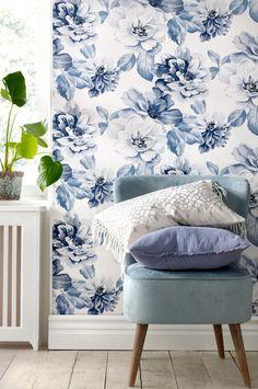 Bildresultat för sovrumstapet blå