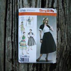 Simplicity 3748 1950s 50s Skirt Shorts Halter by EleanorMeriwether
