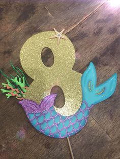 Under the Sea Birthday Cake Topper. Under the Sea topper Mermaid Birthday Cakes, Little Mermaid Birthday, Little Mermaid Parties, Birthday Cake Toppers, Cake Birthday, Diy Birthday, Mermaid Pinata, Mermaid Tail Cake, Mermaid Cakes