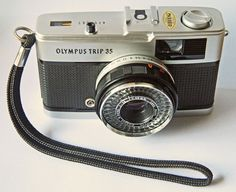 Olympus Trip 35. These work by a light sensor. Really clever!
