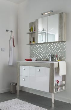 Meubles cookelewis meltem castorama bathroom pinterest for Catalogue salle de bain castorama