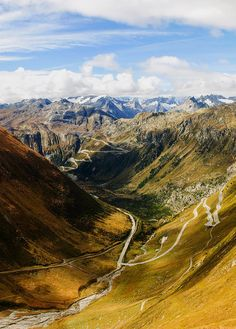 Furka Pass ( Grimsel Pass in thé distance, thé Town of Gletsch) Europe Travel Tips, Places To Travel, Travel Hacks, Travel Destinations, Wonderful Places, Beautiful Places, Amazing Places, The Places Youll Go, Places To See