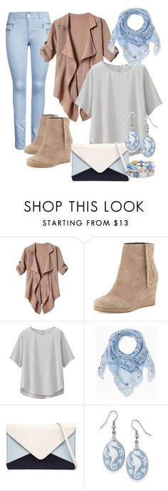 """""""Soothing Seashore Palette"""" by kat9238 on Polyvore featuring TOMS, Uniqlo, Jendi, Natures Jewelry, Chico's, women's clothing, women, female, woman and misses"""