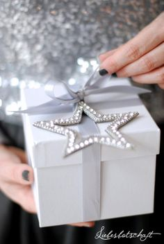 Add a lovely Christmas ornament  to your gift wrapping.