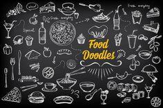 Food doodles by BarcelonaShop on Creative Market