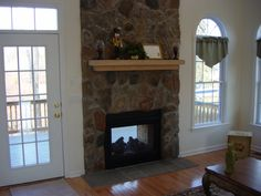 Schoolhouse Landing Model Home Natural Gas Features Fireplace In The Inside And Outside Deck