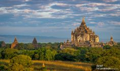 View of the Thatbyinnyu Temple in Bagan, Myanmar (Burma) . This is one of the visited temples in Bagan. It was built in the mid-12th century...