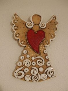 Töpferei – – Hobbies paining body for kids and adult Fairy Crafts, Angel Crafts, Diy And Crafts, Ceramics Projects, Clay Projects, Christmas Angels, Christmas Crafts, Pottery Angels, Clay Angel