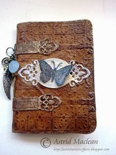 Home made faux leather notebook - Astrids Artistic Efforts