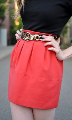 love the coral with the leopard belt accent
