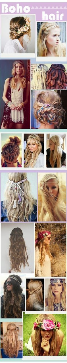 Boho Hair Style Inspiration - perfect for the folk trend this Fall...x