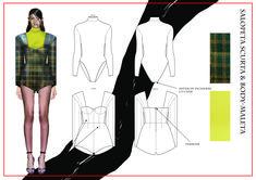 madalina buzas on Behance Fashion Design Sketchbook, Fashion Design Portfolio, Fashion Illustration Sketches, Fashion Sketches, Fashion Model Drawing, Flat Drawings, Fashion Templates, Skate Style, Dark Photography