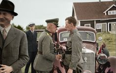 Waldemar Erfurth General Der Infanterie shake hands to Kustaa Anders (Finnish Commander) beside his Mercedes Benz. (4th August 1879 - 2th Mai 1971) he was a liaison officer in the Finnish headquarters 1941-1944. He wrote a book about the Murmansk...