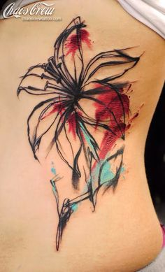 Awesome lily watercolor tat