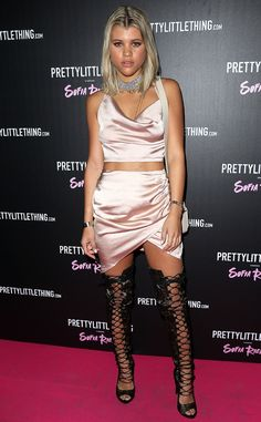 Sofia Richie from The Big Picture: Today's Hot Pics  Laced up in London! The model works it on the carpet during thethe Prettylittlething launch party in London, England.